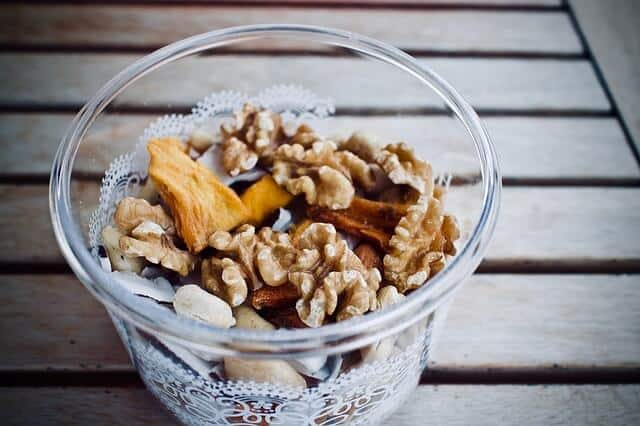 A yogurt parfait is one of my favorite ways to use dried mangoes in recipes.