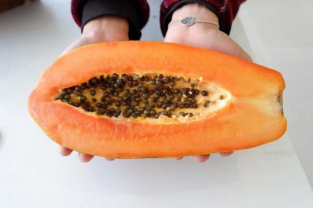 Dried papaya seeds are delicious